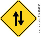 two way sign | Shutterstock .eps vector #714528250