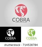 cobra logo. three versions.... | Shutterstock .eps vector #714528784
