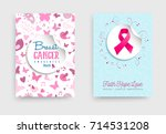 breast cancer awareness month... | Shutterstock .eps vector #714531208