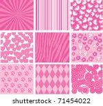 Vector Pink Patterns