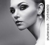 closeup portrait of sexy... | Shutterstock . vector #714540850