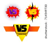 set of outline versus sign like ... | Shutterstock .eps vector #714549730