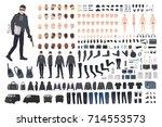 thief  burglar or robber diy... | Shutterstock .eps vector #714553573