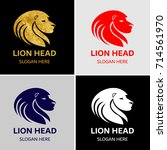 lion head logo template | Shutterstock .eps vector #714561970