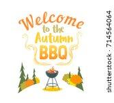 autumn outdoors concept.... | Shutterstock .eps vector #714564064