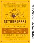 oktoberfest beer festival... | Shutterstock .eps vector #714566443