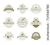 oktoberfest labels  badges and... | Shutterstock .eps vector #714568780