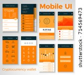 cryptocurrency wallet mobile ui....