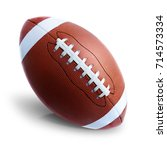 rugby american football ball... | Shutterstock . vector #714573334