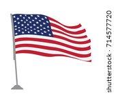 isolated flag of the united... | Shutterstock .eps vector #714577720