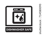 dishwasher safe | Shutterstock .eps vector #714580090