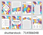 abstract vector layout... | Shutterstock .eps vector #714586048