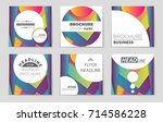 abstract vector layout... | Shutterstock .eps vector #714586228