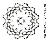 round ornamental mandala lotus... | Shutterstock .eps vector #714586258