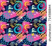 creative seamless pattern.... | Shutterstock .eps vector #714588844