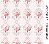 pretty vintage feedsack pattern ...   Shutterstock . vector #714590224