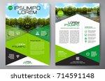 business brochure. flyer design.... | Shutterstock .eps vector #714591148
