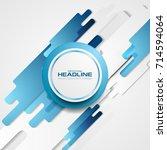 blue abstract technology... | Shutterstock .eps vector #714594064