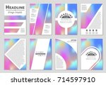 abstract vector layout... | Shutterstock .eps vector #714597910