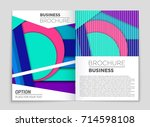 abstract vector layout... | Shutterstock .eps vector #714598108