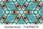 seamless circular vector... | Shutterstock .eps vector #714598270