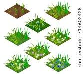 garden or farm isometric tile... | Shutterstock .eps vector #714602428