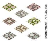 garden or farm isometric tile... | Shutterstock .eps vector #714602458