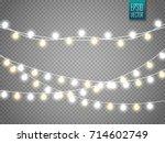 christmas lights isolated on... | Shutterstock .eps vector #714602749