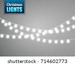 christmas lights isolated on... | Shutterstock .eps vector #714602773