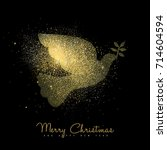 merry christmas and happy new... | Shutterstock .eps vector #714604594