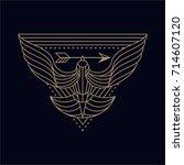 dove bird abstract illustration ... | Shutterstock .eps vector #714607120