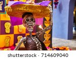 Stock photo mexican altar for day of the dead dia de los muertos 714609040