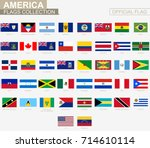 national flag of american... | Shutterstock .eps vector #714610114