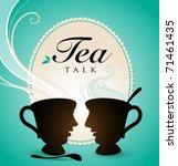 tea talk | Shutterstock .eps vector #71461435