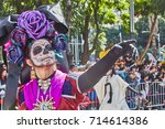 Small photo of Day of the dead parade in Mexico city October 29, 2016