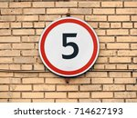 the sign of the speed limit is... | Shutterstock . vector #714627193