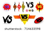 big set of symbol competition... | Shutterstock .eps vector #714633598