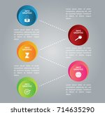 info graphic elements  options  ... | Shutterstock .eps vector #714635290