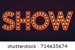 show banner alphabet sign... | Shutterstock .eps vector #714635674
