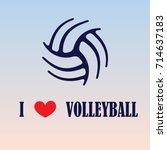 dark blue volleyball silhouette ...   Shutterstock .eps vector #714637183