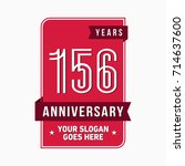 156 years anniversary design... | Shutterstock .eps vector #714637600