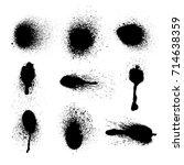 vector set of ink splashes. eps ...   Shutterstock .eps vector #714638359