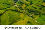 aerial view of rural land in... | Shutterstock . vector #714638890