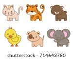 cute animals design | Shutterstock .eps vector #714643780