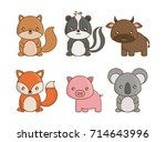 cute animals design | Shutterstock .eps vector #714643996