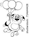 black and white illustration of ... | Shutterstock . vector #714644428