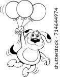black and white illustration of ... | Shutterstock .eps vector #714644974
