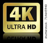 4k ultra hd sign with... | Shutterstock .eps vector #714645940
