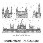 hungarian travel landmark of...   Shutterstock .eps vector #714650080