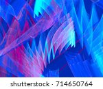 abstract fractal image toned in ... | Shutterstock . vector #714650764
